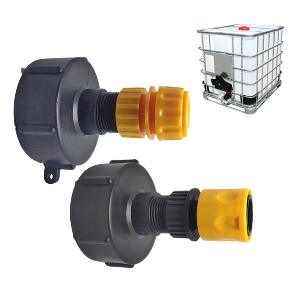 Ibc válvulas de depósito de agua tanque de manguera de jardín accesorios de adaptador herramienta de rosca gruesa junta de barril del tanque de agua para Barril químico