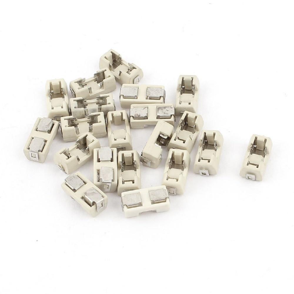 Lote de 20 unidades de fusible SMD de 1808, base de caja de fusible transponson de 6,1x2,69mm, carcasa de plástico para temperatura portaffusibili