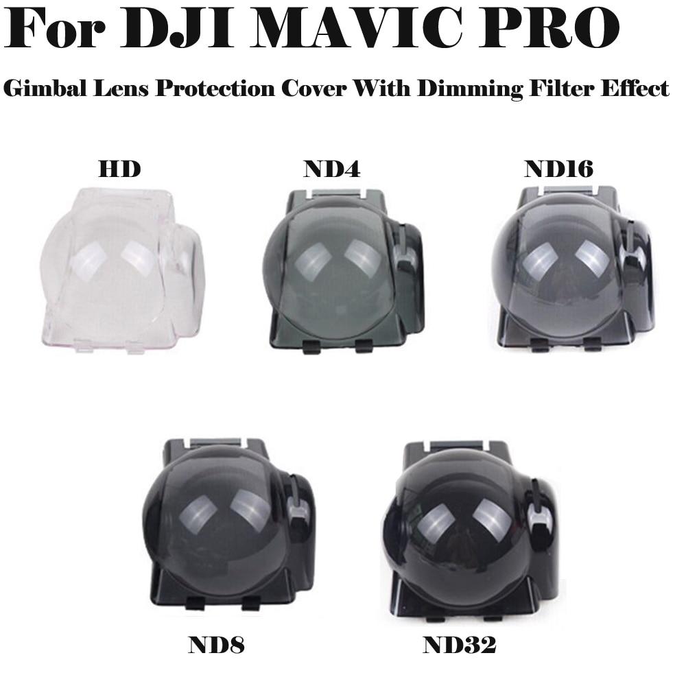 Mavic Pro protector cardán cubierta de protección de lente con UV ND4 ND8 ND16 ND32 efecto de filtro para DJI Mavic Pro Drone Accesorios