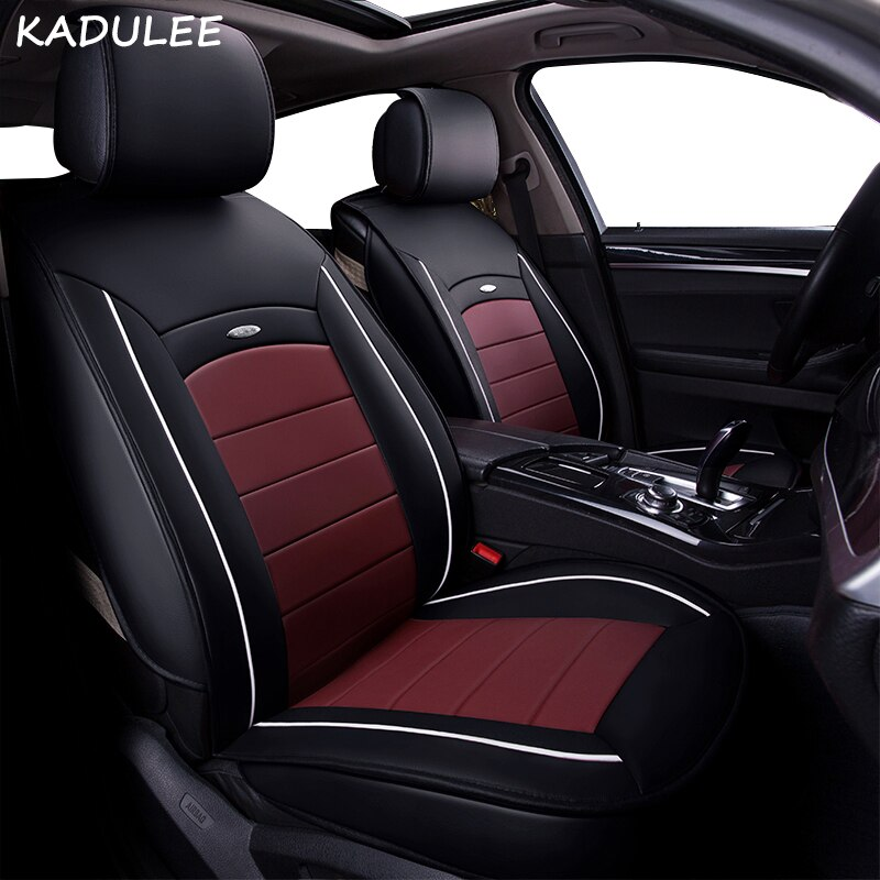 KADULEE pu leather car seat cover for toyota auris fiat bravo nissan note alfa romeo giulietta mitsubishi lancer car accessories