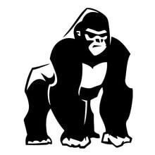 12.5 centimetri * 16.2 centimetri Gorilla Scimmia Primate Decor Adesivi In Vinile Decalcomanie Nero/Argento S3-6051