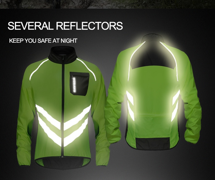 WOSAWE Driving Reflective Clothing Long Sleeve Windproof High Visibility Motocross Riding Off-Road Safety Jacket Windbreaker enlarge