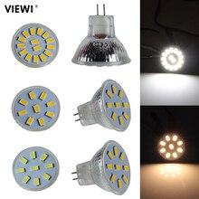 Ampoule led gu4 12 v 24 V 35mm MR11 spot verre tasse mini 12 24 v volt 1 W 2 W spot ampoule lumières sous armoire lampe à économie dénergie