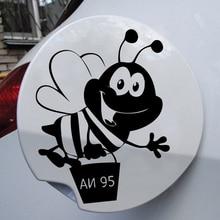 Drie Ratels TZ-508 12.9*10 Cm 1-5 Stuks Bee AI-95 Sticker Op De Tank Auto Sticker En decals Grappige Stickers