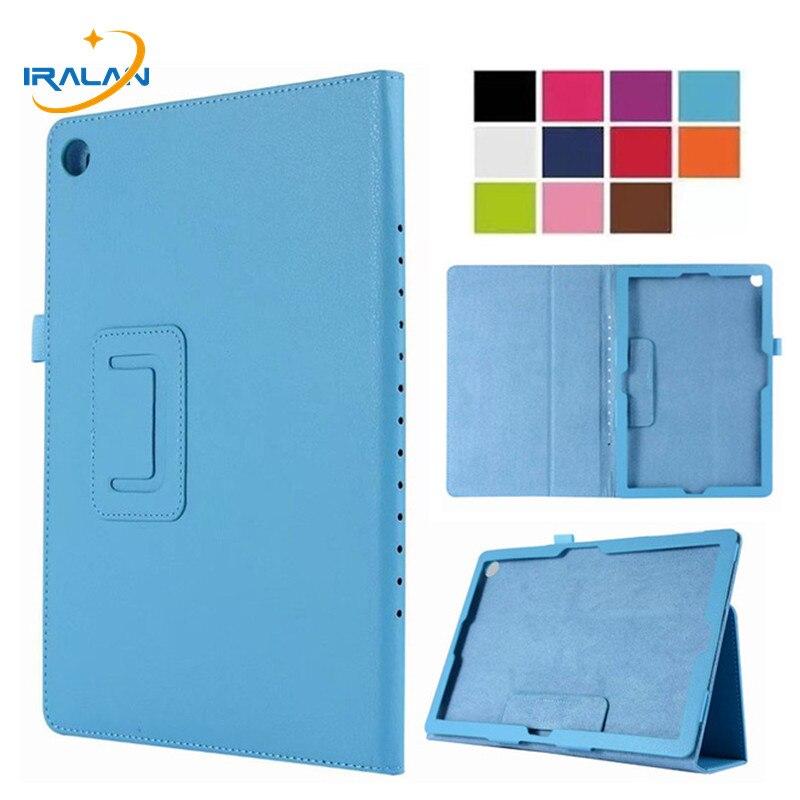 Patrón Litchi Flip Folio PU Funda de cuero para Huawei MediaPad M5 10,8 CMR-AL09/W09 para Huawei M5 pro 10,8 pulgadas + película + lápiz