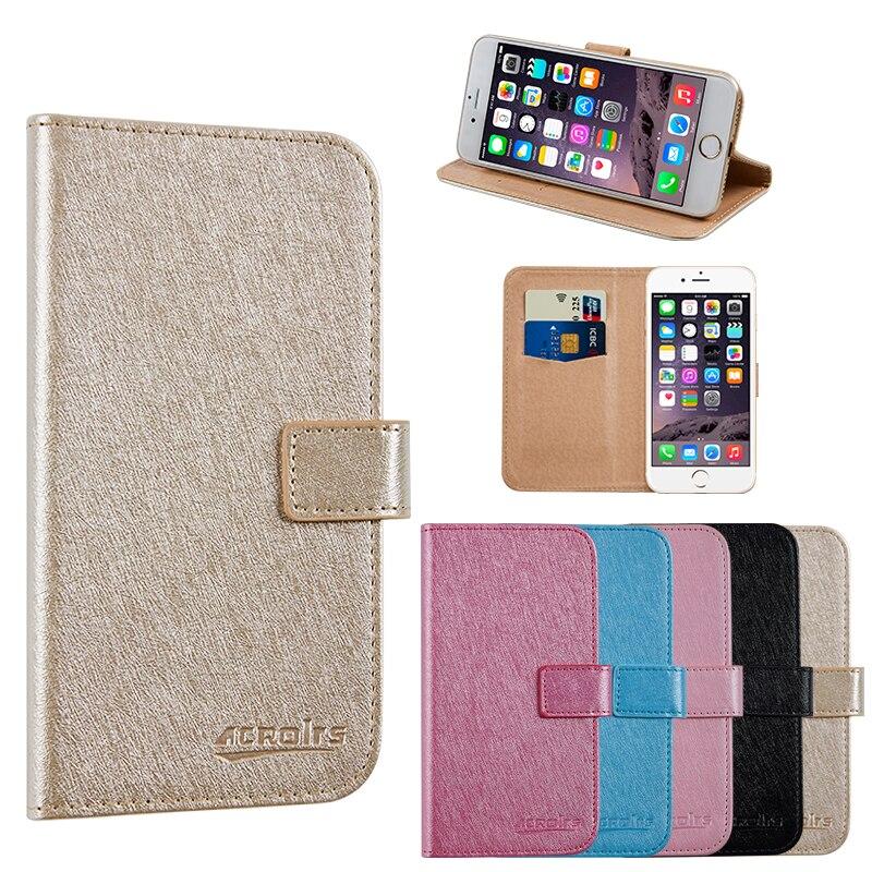 Para Prestigio MUZE E5 LTE PSP5545DUO negocios teléfono caso de cartera de cuero cubierta protectora con ranura para tarjeta