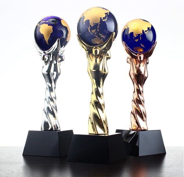 High quality!DIY New crystal trophy Creative metal Crystal souvenir Free lettering,Free shipping