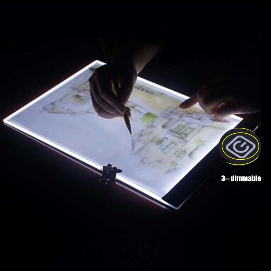 3pcs/lot diamond mosaic A4 LED Artist Thin Art Stencil Drawing Board Light Box Tracing Writing Portable Electronic Tablet Pad