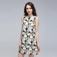 2019 spring summer women dress new designer sweet amazing casual print heavy work handmade sequin sleeveless flower beach dress