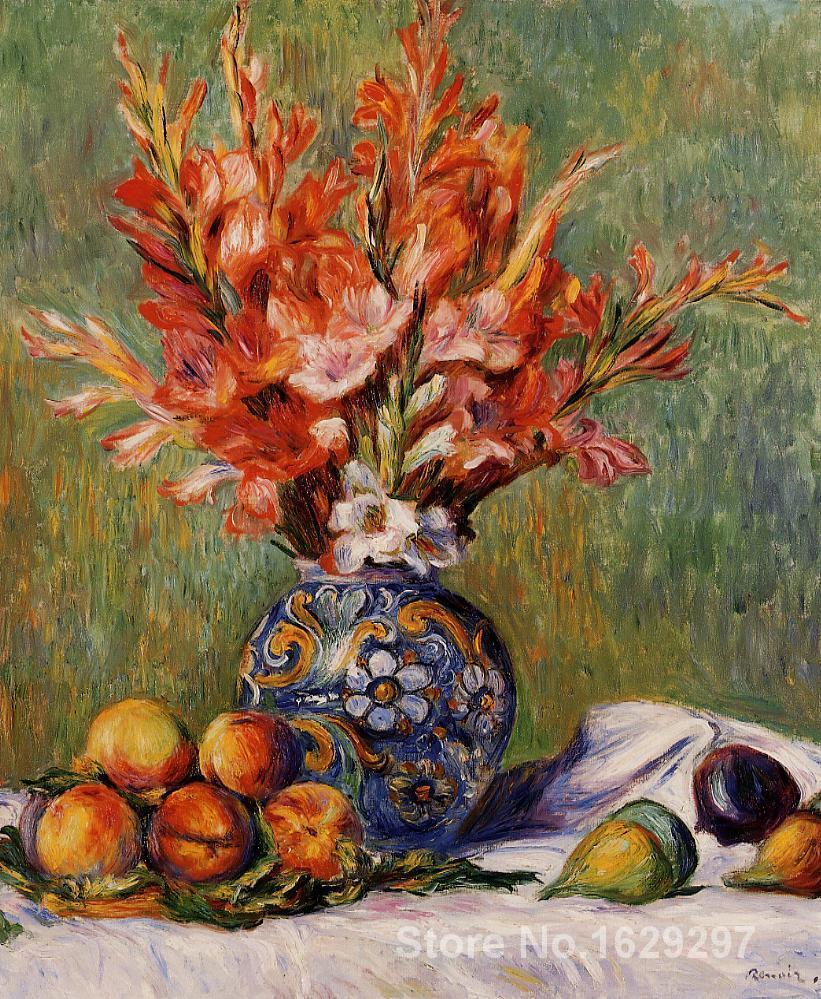 Kupić wybrane tapety, obrazy, fototapety lub naklejki Pierre Auguste Renoir reprodukcji kwiaty i owoce ręcznie malowane wysokiej jakości