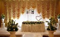 2018 luxury 10ft20ft golden wedding backdrop gold wedding stage curtain wedding decoration wedding supply