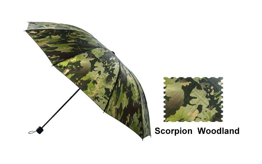 Paraguas militar táctico de camuflaje para caza, pesca al aire libre, Paintball Airsoft, juego de guerra, policía urbana, combate SWAT