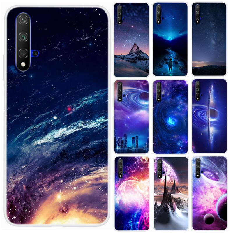 Funda para Huawei Honor 20 Lite TPU, funda para teléfono, funda de piel de espacio de estrella maravillosa para Honor 20 Lite Honor20, fundas traseras