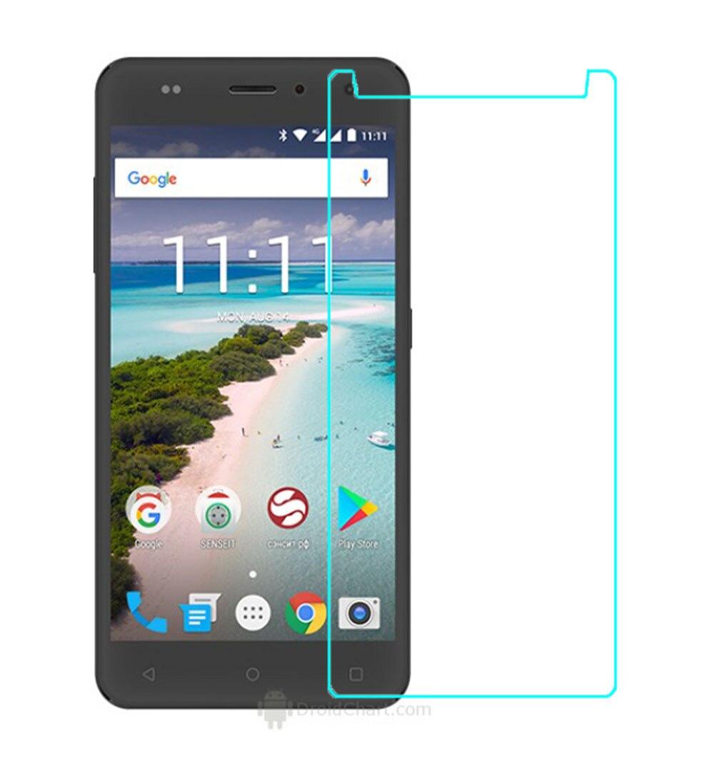 Vidrio templado para Senseit T250 Protector de pantalla 9H 2.5D película protectora de teléfono para vidrio templado Senseit W289