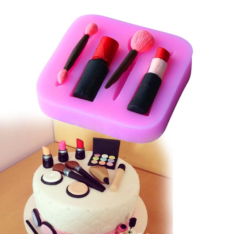 Pintauñas 3D moderno para mujer, pintauñas para uñas, lápiz para cejas, moldes para decoración manualidades con azúcar, pastel de silicona, galletas, Fondant