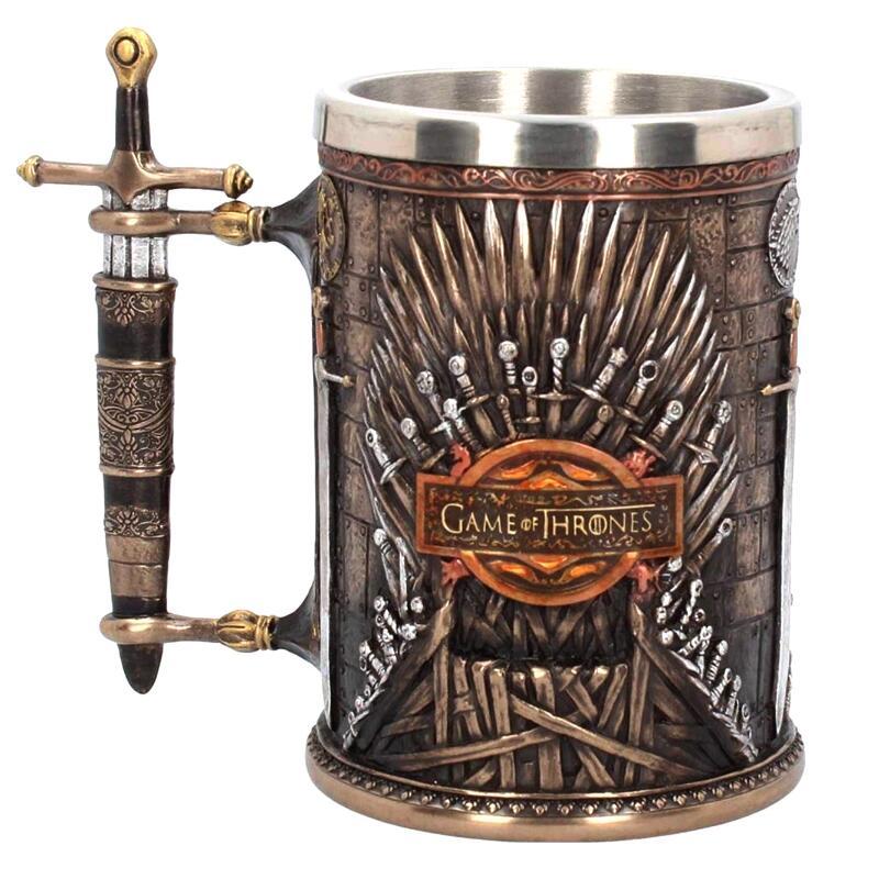 Game Of Thrones Mug 3D Emboss Iron Throne Stainless Steel Resin Cups Creative Coffee Mugs Beer Milk Mug Wholesale
