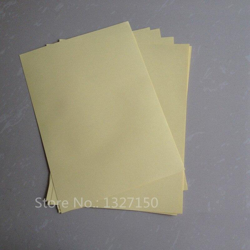 50 hojas A4 cinta autoadhesiva de doble cara fuerte papel adhesivo para tapa dura álbumes de fotos folletos menú