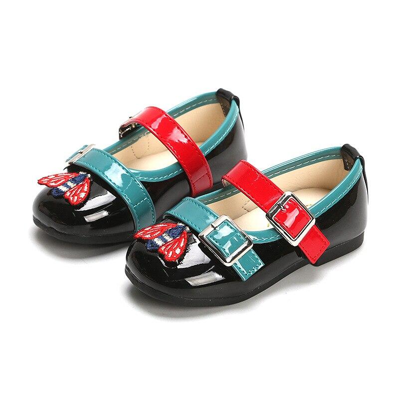 2020 Lente Kinderen Schoenen Meisjes Prinses Platte Fashion Leuke Mocassins Baby Casual Schoenen Zachte Bodem Antislip Peuter Kids schoenen