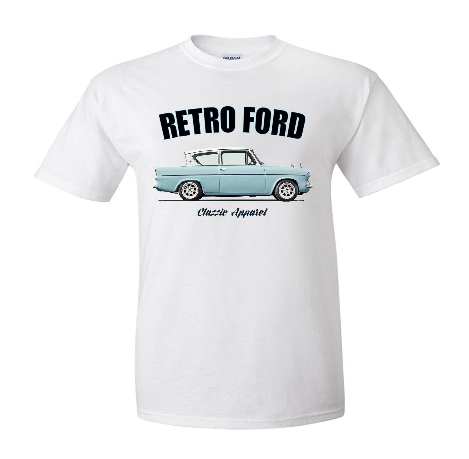 Moda marca fitness magro ajuste clássico americano carro fãs anglia camiseta. Carro clássico retro. Modificado. Camisas rockabilly. photo t