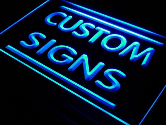 7 أحجام متعددة الألوان التحكم عن بعد علامات النيون مخصصة تصميم بنفسك علامات النيون LED مستطيل شكل دائري