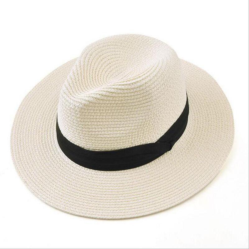 BINGYUANHAOXUAN Brand 2017 New Summer Hats For Women Black Ribbon Panama Straw Hat Fashion Lady Lady Hats Beach Sun Hat