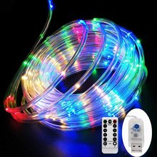 LED Tube Strip lights 8 Play Modes Remote Control USB Garland Outdoor Indoor DIY Decoration Christmas Wedding Garden Tree Lights