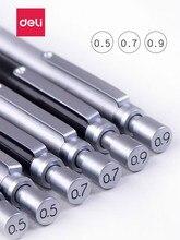 Deli металлический автоматический карандаш с низкой гравитацией 0,9 мм профессиональный механический карандаш для рисования 0,5 мм механический карандаш 0,7 мм