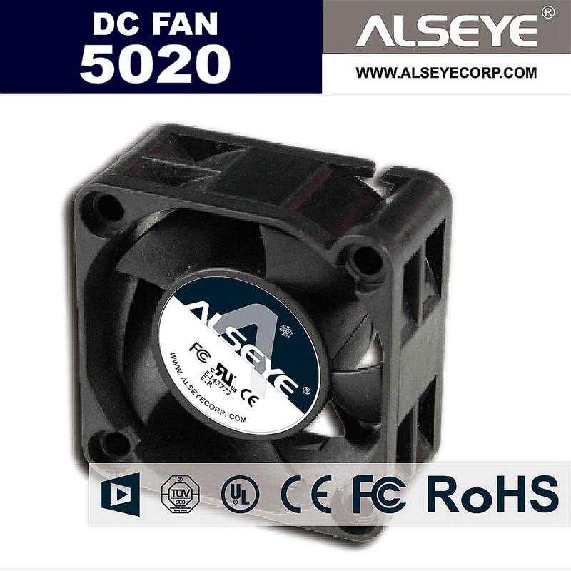 Ventiladores ALSEYE 50mm Mini DC 12v ventilador refrigerador 0.21A 6000RPM alto rendimiento Cojinete de bolas ventilador de enfriamiento 50x50x20mm