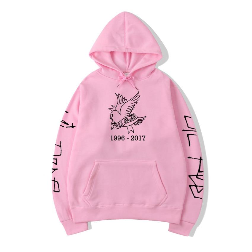 Cry Baby Lil/толстовки с открытым носком для женщин; Повседневный пуловер в стиле Харадзюку; Модный свитер с открытым носком в стиле хип-хоп для мужчин; Harajuku R.I.P RAPPER