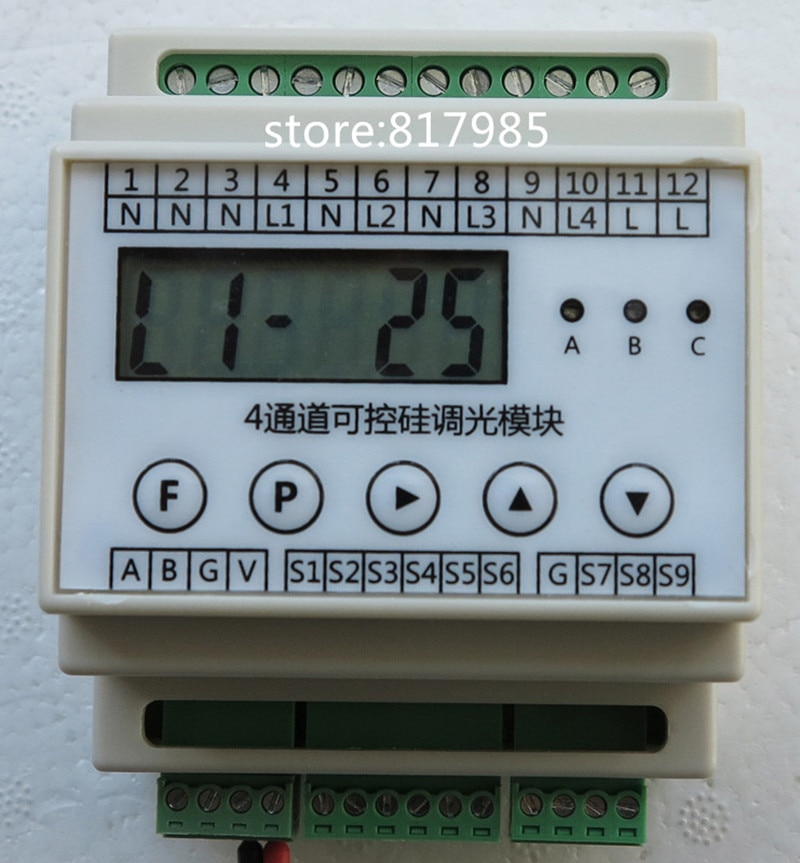 برمجة تحكم ac موتور تحكم 4 قناة SCR باهتة وحدة rs485 مودبوس باهتة