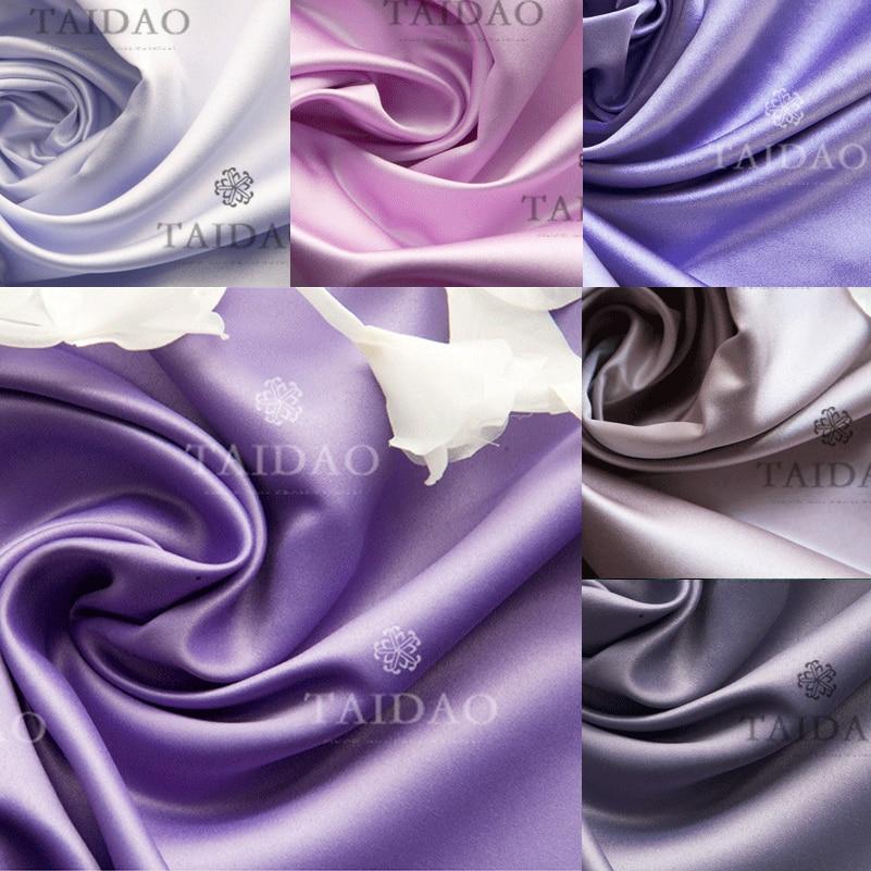 Cortina de hilo de tela de color puro pequeño y grueso de satén de 150x100cm diy satins púrpura de alta densidad resistente al desgaste 280 g/m
