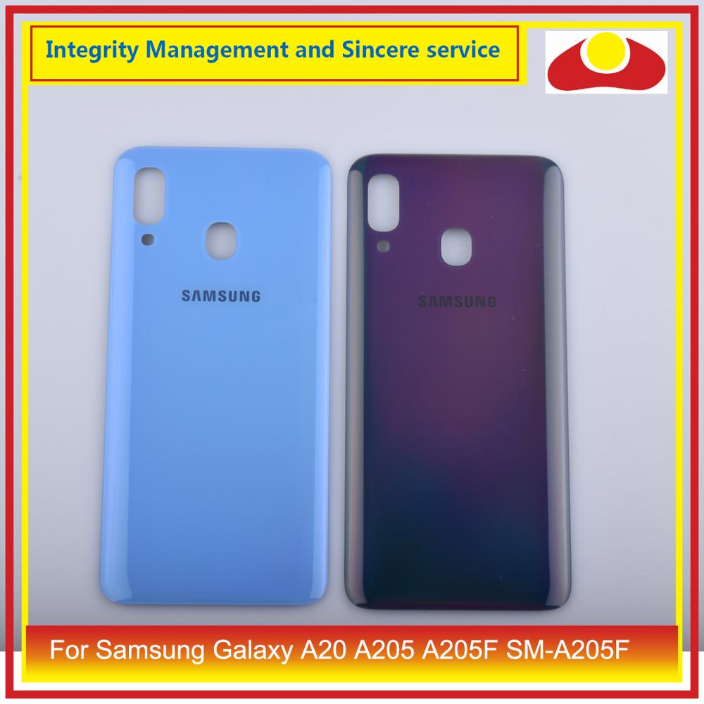 10 unids/lote para Samsung Galaxy A20 A205 A205F SM-A205F carcasa batería puerta para parabrisas trasero carcasa chasis carcasa A20 2019