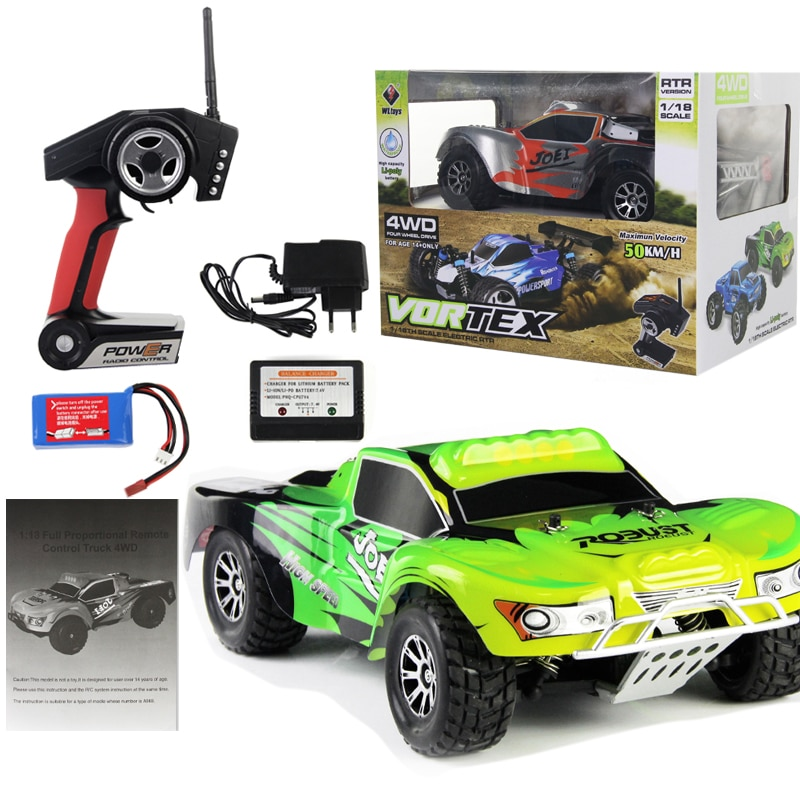 WL Toys 1:18 Full Proportional 2.4G Remote Control Car 4WD Off-road Vehice RC Car High Speed 45KM/H Drift Bajas Ready to Run enlarge