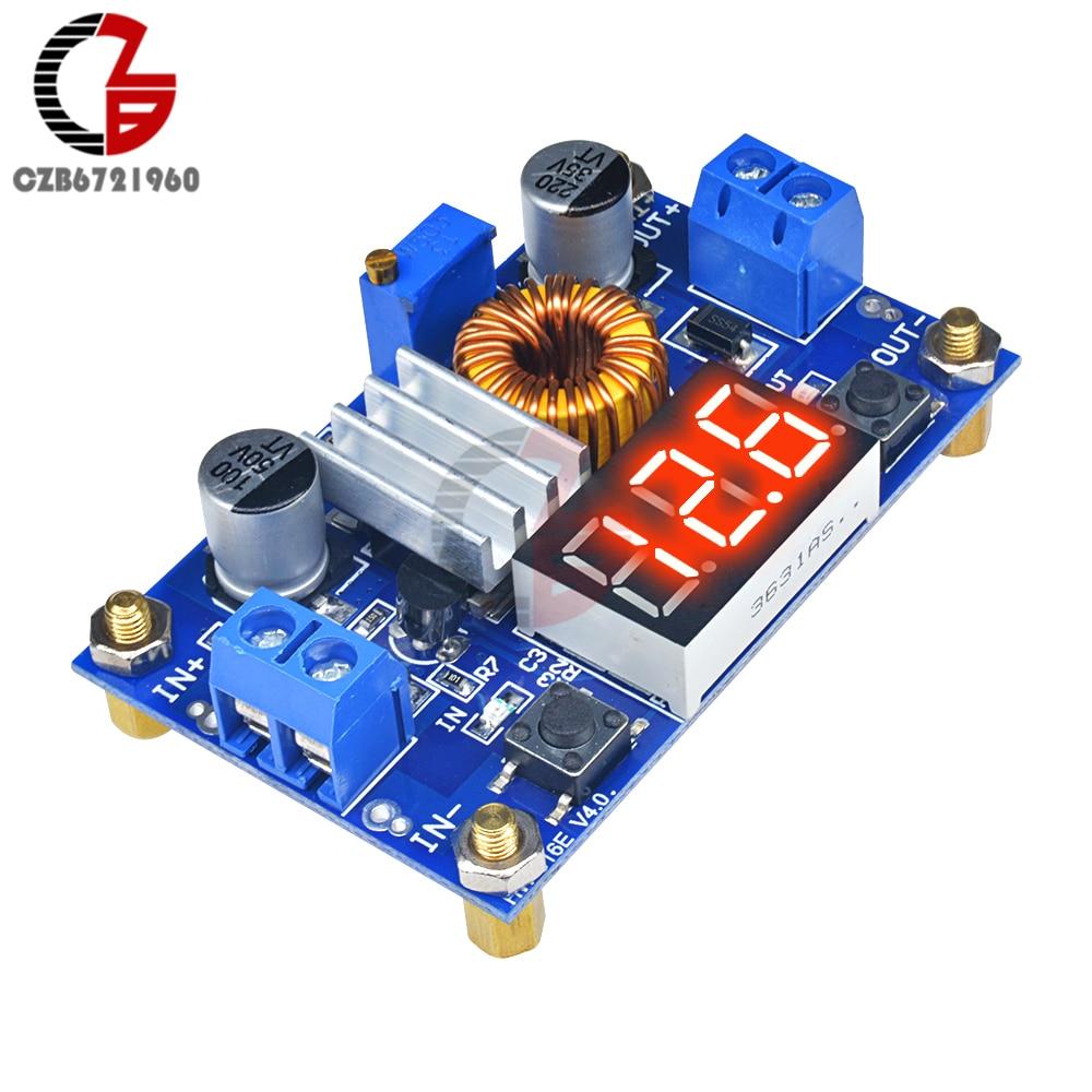 75W 5A Step Down Voltage Regulator Adjustable DC-DC Buck Converter Power Transformer Supply 12V 24V with LED Digital Voltmeter