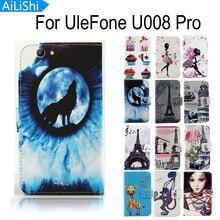 AiLiShi Für UleFone U008 Pro Optional Gemalt PU Flip Leder Schutzhülle U008 Pro UleFone Hülle
