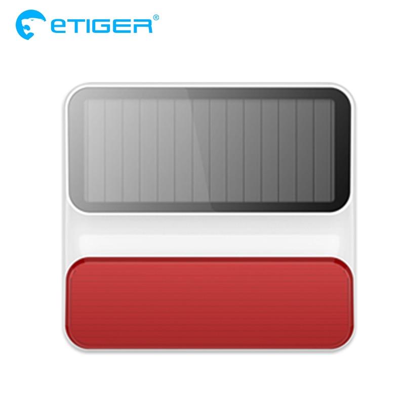 eTiger Wireless outdoor ES-S8A Wireless Outdoor Solar Strobe Siren for Etiger Alarm System S4/S3 alarm