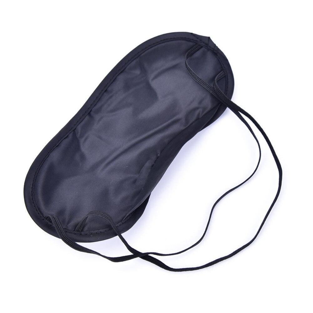 100 adet/grup hediye seyahat uyku göz maskesi siyah gölge körü körüne göz bandı gece ekonomik