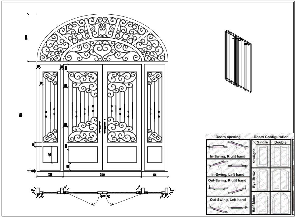 Металлическая Дверь ворота кованого железа Декор Двери|Двери| |