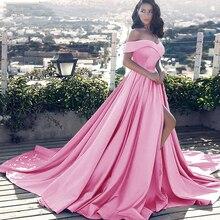Robes De soirée De luxe Vestido longo tache De lépaule robe De bal royale 2019 nouvel an robe De soirée formelle Vestido De Noiva