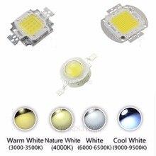 Haute puissance 1 W 3 W 5 W 10 W 20 W 30 W 50 W 100 W lampe à LED puce chaud naturel blanc froid 3000 K 4500 k 6500 k 10000 k puce LED