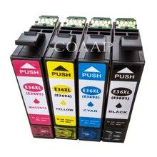 4PK cartucho de tinta de impresora para Compatible EPSON XP 332a 325a 36XL T3691 T3692 T3693 T3694