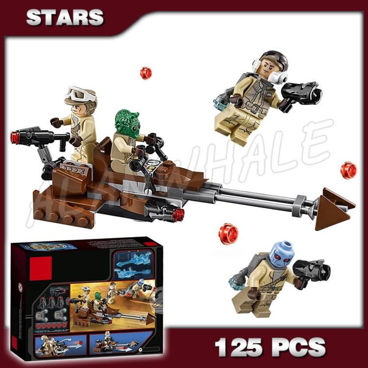 125pcs New Space Wars Rebel Alliance Battle Model Building Kit 10572 3D Blocks Movie Sets Children Toy Compatible with Lago