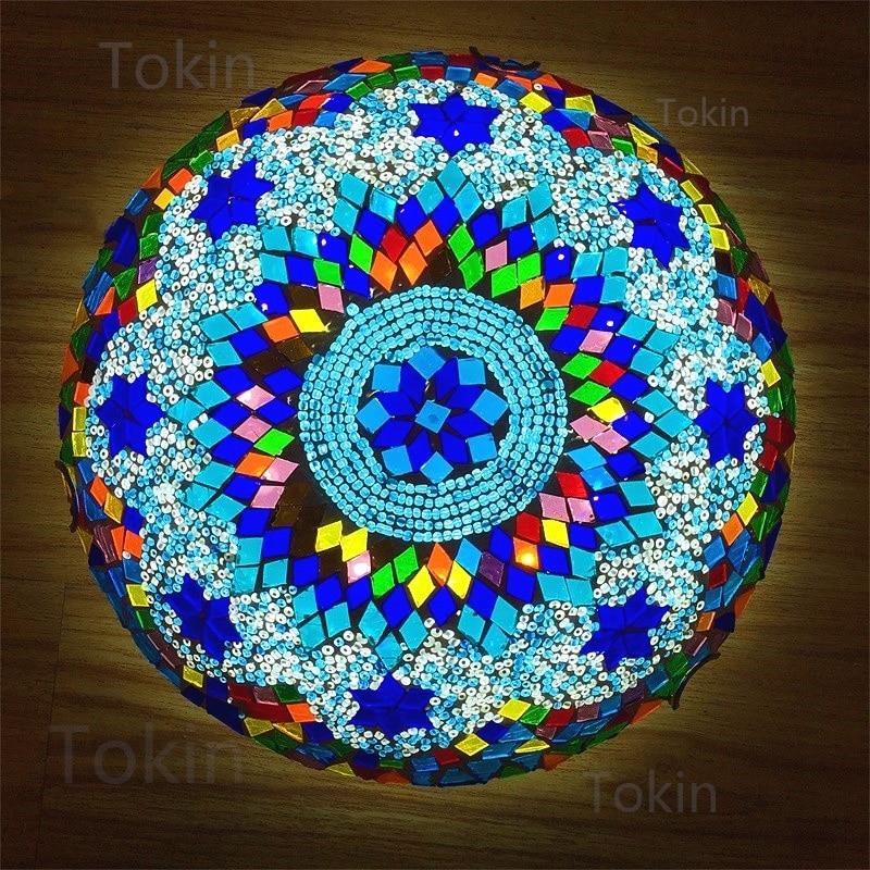 Newest Turkish mosaic ceiling Lamp vintage art deco Handcrafted lamparas de mesa Glass romantic light lamparas con mosaic