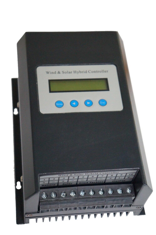 600 واط الرياح 400 واط الشمسية 12 فولت/24 فولت PWM الهجين شاحن تحكم ل نظام إضاءة الشوارع الصغيرة (دفعة ، السائبة ، MPPT اختياري)