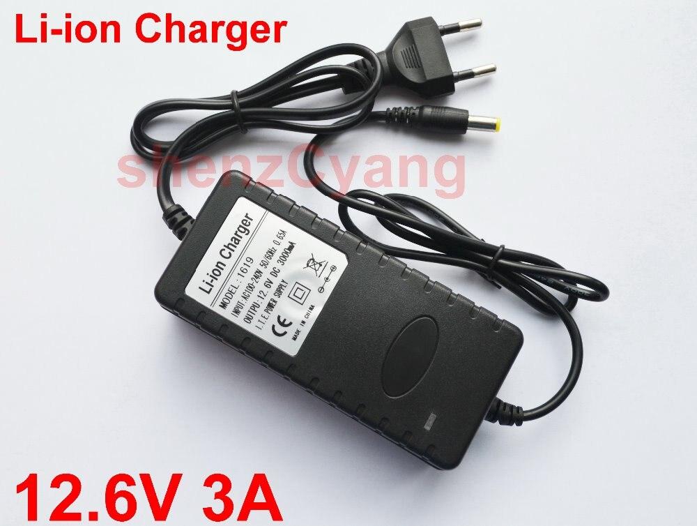 20 PCS Alta qualidade 12.6 V 3A fonte de Alimentação Carregador de Li-ion 12.6 V 3A 3000mA AC 100-240 V Converter Plug Adapter DA UE Para A Bateria parque