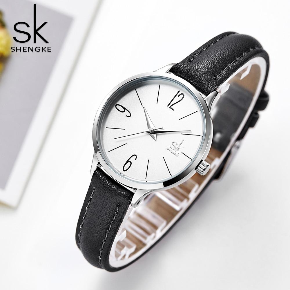 Shengke das Mulheres de Negócios de Moda Relógios de Luxo Casual Pulseira de Couro de Quartzo Das Senhoras do Relógio À Prova D Água Relógio de Pulso Relogio feminino