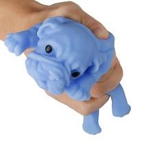 1 Uds. Juguete de descompresión de ventilación creativo de moda novedad bromas prácticas exprimiendo juguetes Shar Pei para niños amigos regalos geniales