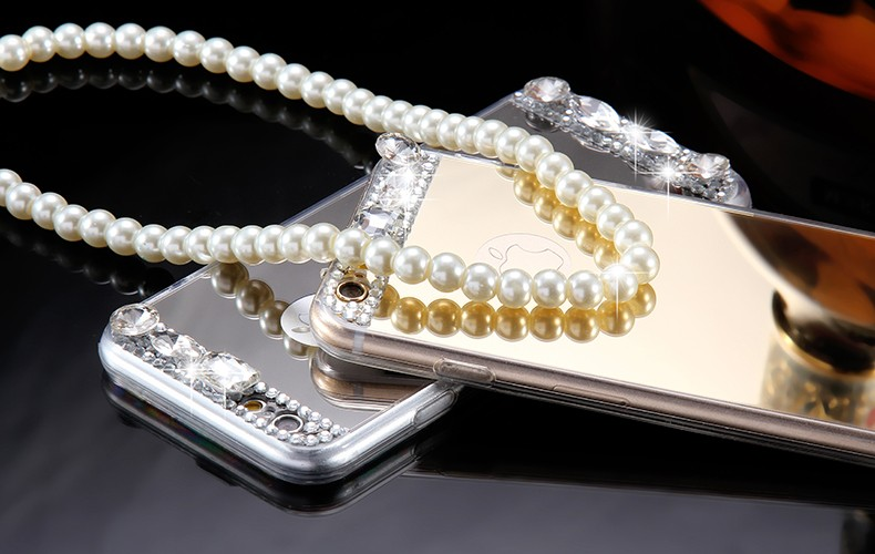 Dla iphone 6 7 case glitter lustro sprawach phone bag dla iphone 7 6 6 s plus 5S 5 se diamond case do samsung s8 plus s6 s7 krawędzi 7