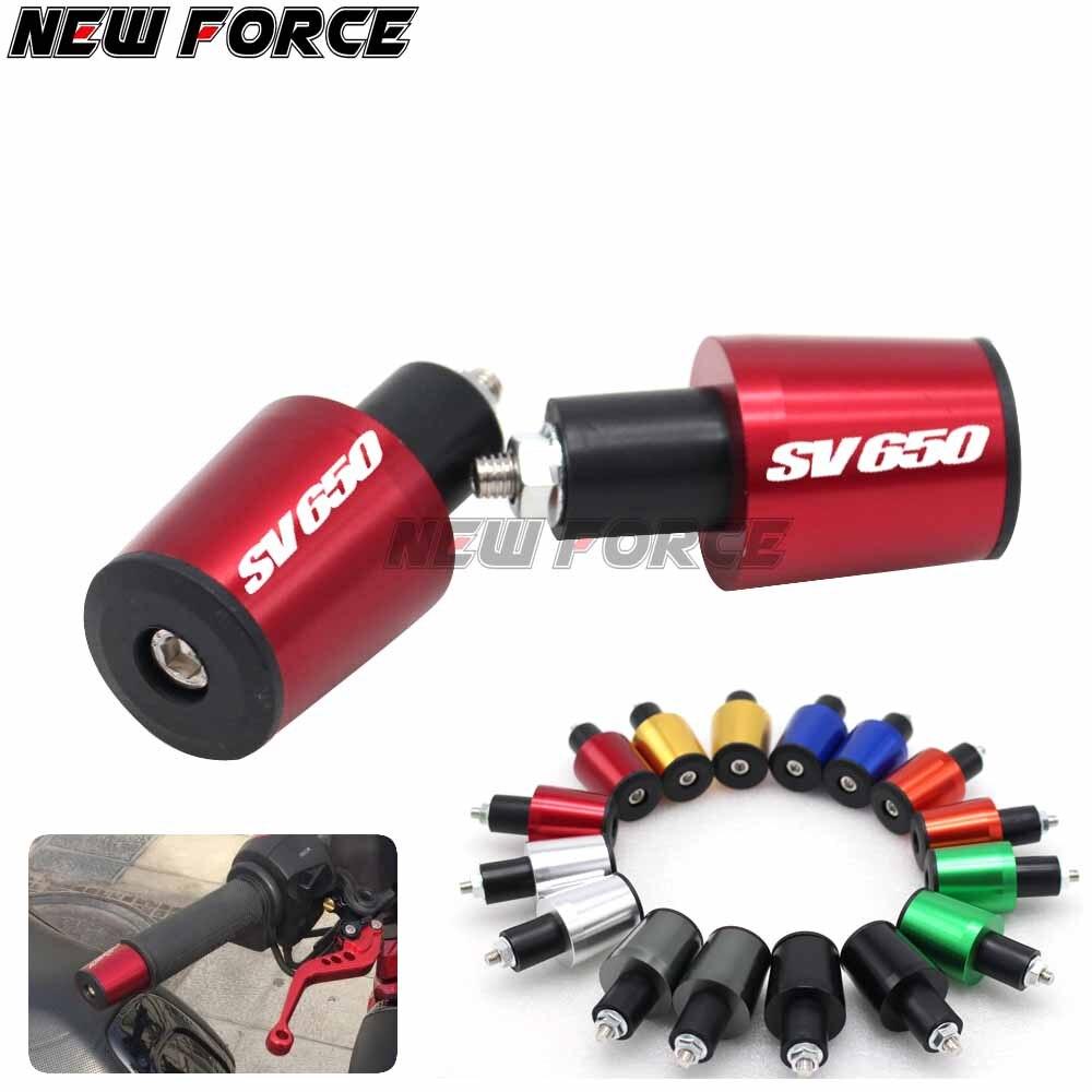 CNC 22MM SV650 Tampa Guiador Grips Handle Bar End Plugs Para Suzuki 1999 2000 2001 2002 2003 2004 2005 2006 2007 2008 2009