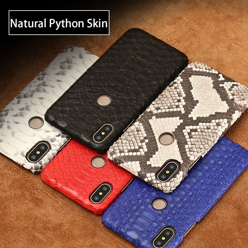 Luxury leather phone case For redmi Note 9 pro 9s note 8 pro 8t note 7 pro Python skin cases For xiaomi mi 11 10 9T 10T Pro 9 8